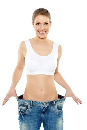 Frau nach Diät